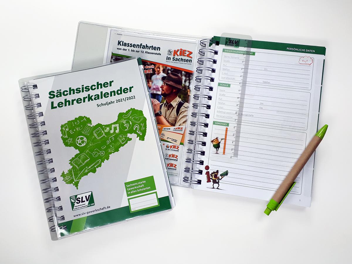 Kalender für die Sächsischen Lehrer und Erzieher Bild 01